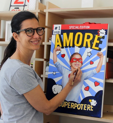 """Sabrina Rocca con la sua opera """"Amore - Un Superpotere"""""""