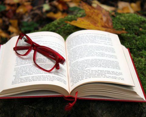 occhiali libro