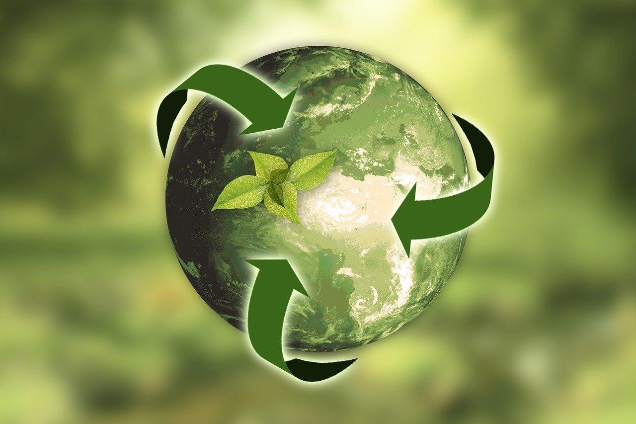 verdi terra simbolo riciclo
